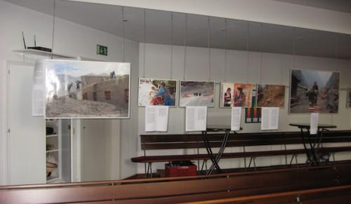 Ausstellung in der Evangelischen Friedenskirchengemeinde in Bonn.