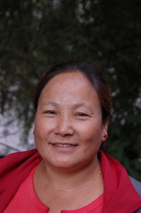 Laxmi Gauchan, die Präsidentin von Sahayog Himalaya-Nepal